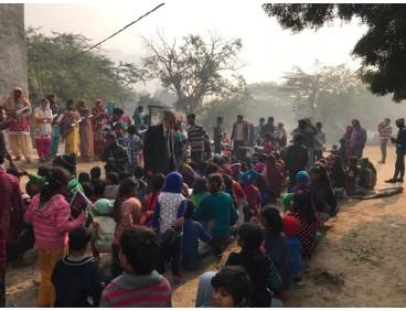 인도 성탄절을 아이들과 함께